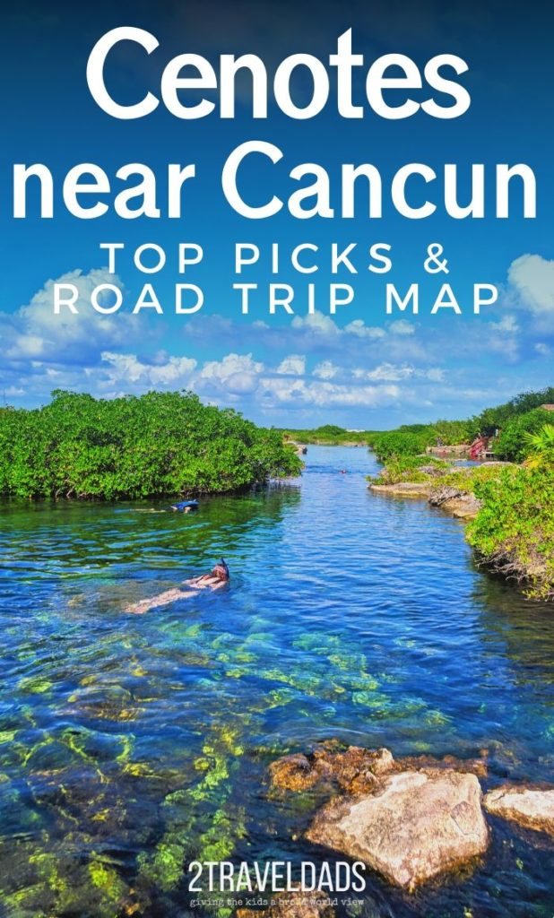The Cenotes near Cancun are amazing and really easy to add to a beach vacation. Ceontes are even easy to visit as a cruise excursion from a Caribbean Mexico port of call. This post includes top picks for centones and a road trip plan from Cancun to Tulum and beyond. #tropical #Caribbean #Mexico #vacation