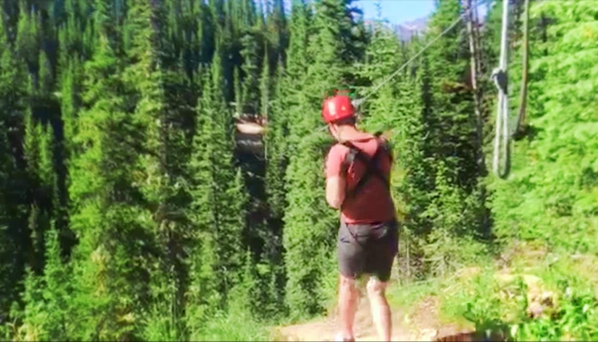 Chris Taylor Zipling at Big Sky Resort Montana 2