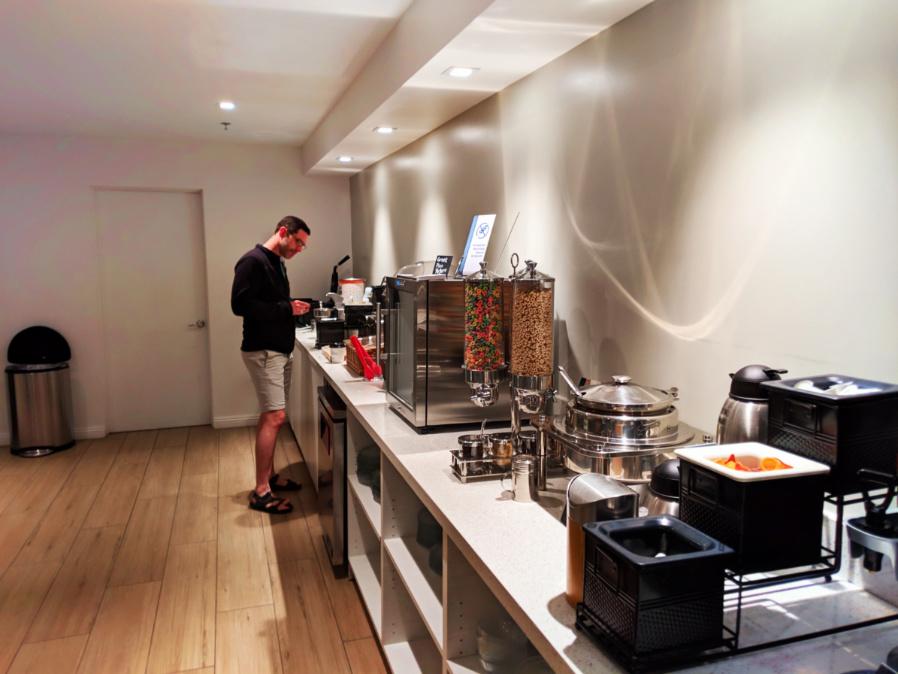Chris Taylor at breakfast at Best Western Plus Las Brisas Hotel Palm Springs 2