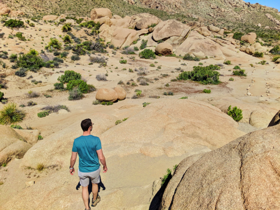 Chris Taylor hiking at Split Rock in Joshua Tree National Park California 2