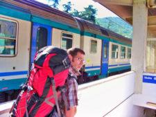 Chris Taylor on Tren Italia at Pisa Italy 1