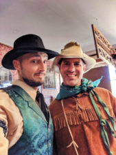 Chris and Rob Taylor dressing in Old time costumes Montana Picture Gallery photo studio Virginia City Montana 2