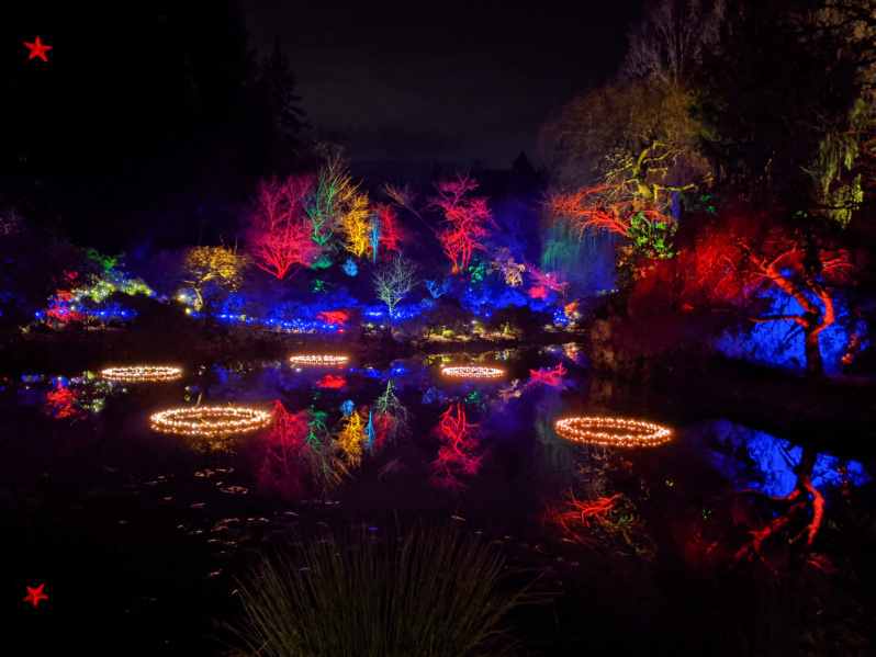 Christmas Lights in Sunken Garden at Butchart Gardens Christmas Victoria BC 4