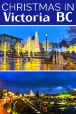 Christmas in Victoria BC is gorgeous and full of holiday lights. Best things to do at Christmas from Butchart Gardens to festivals and markets. #Christmas #holiday #Victoria #Canada