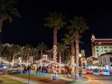 Christmas lights in Plaza at Nights of Lights St Augustine FL 4