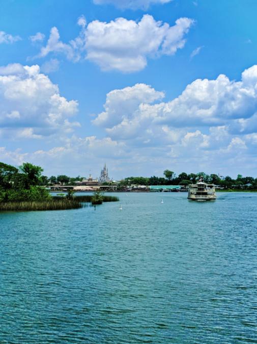 Cinderellas Castle from Lake outside Magic Kingdom Disney World Orlando Florida 2