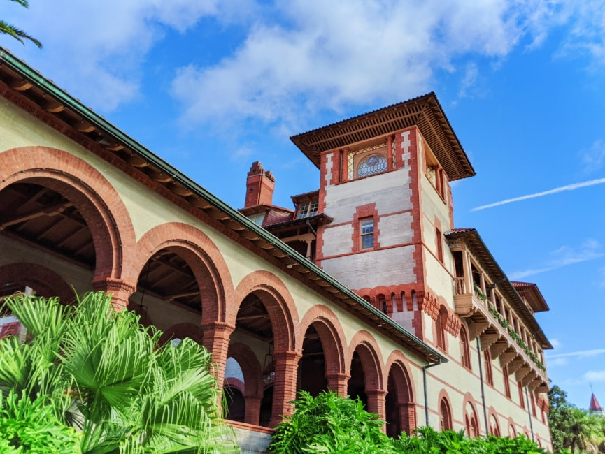 Colonnade at Flagler College Saint Augustine Florida 1