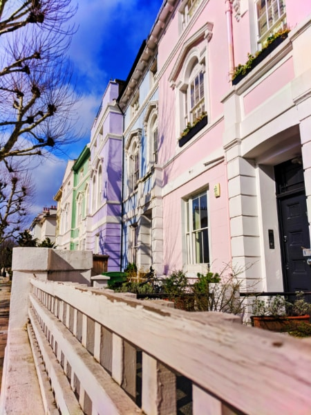 Colorful Houses in Primrose Hill London 1