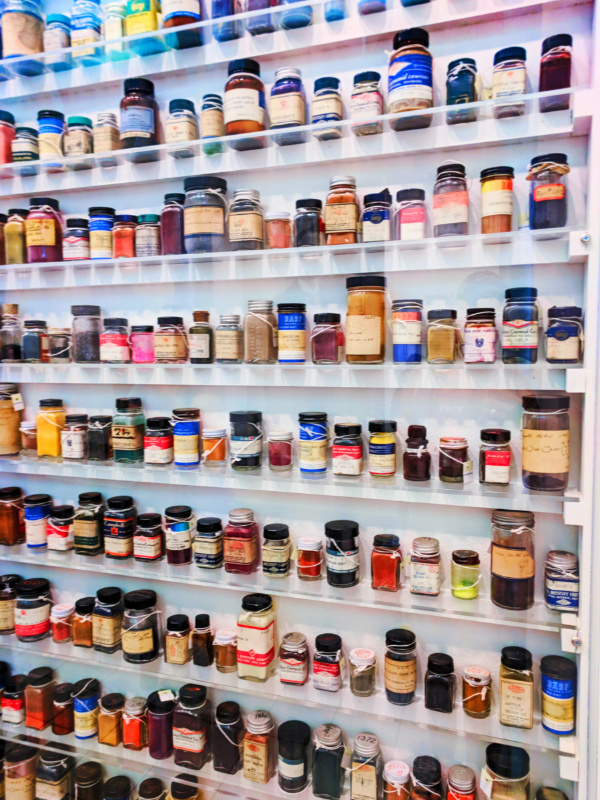 Colorful Kodachrome processing chemicals at Eastman Museum Rochester New York 2