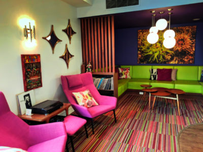 Colorful Lobby at Hotel Zed Victoria BC 1