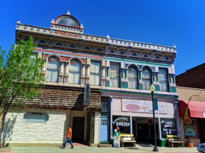 Colorful historic building in Deer Lodge Montana 1