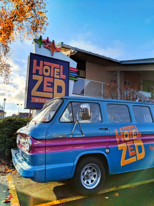 Colorful van at Hotel Zed Victoria BC 1