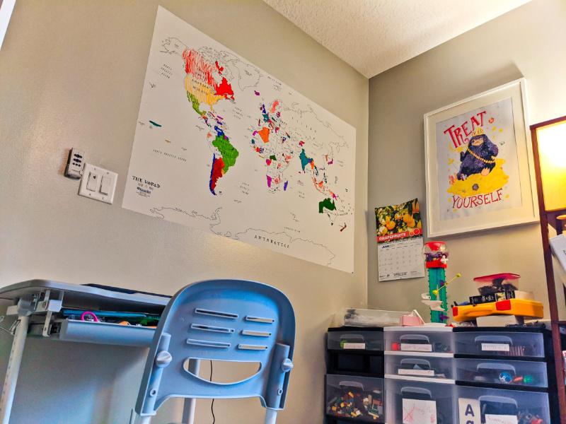 Coloring Wall Map Kid Virtual School Setup 2