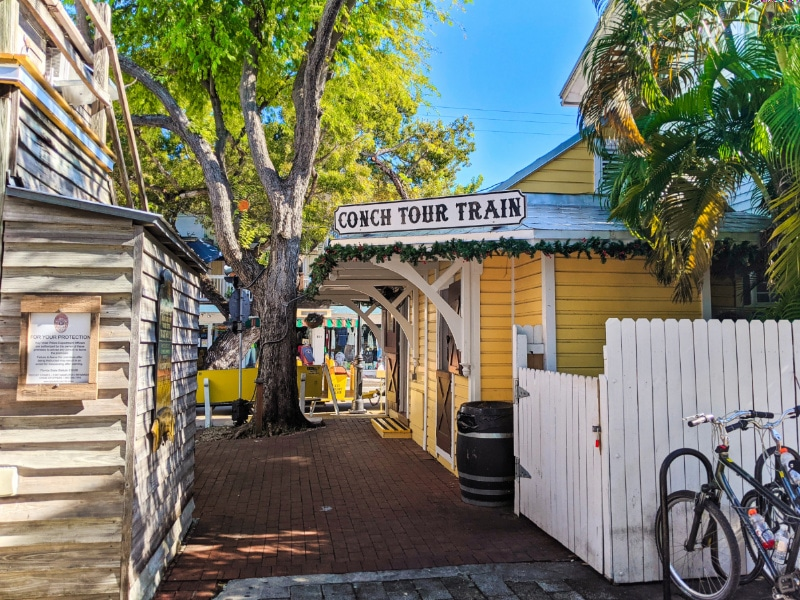 Conch Train Tour Depot in Old Town Key West Florida Keys 2020 1