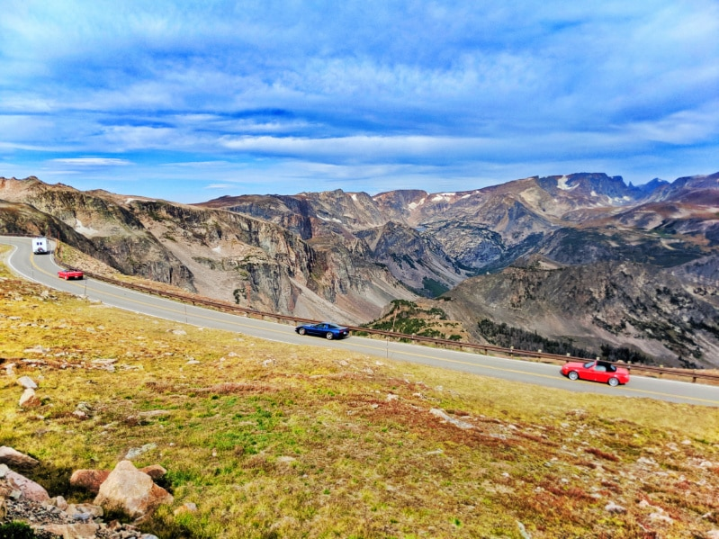 Corvettes on Bear Tooth Highway in Montana's Yellowstone Country