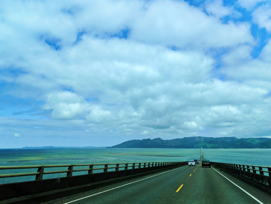 Crossing Highway 101 from Astoria into Washington on bridge 3