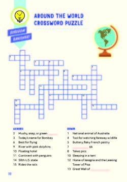 Crossword - Ultimate Travel Journal for Kids