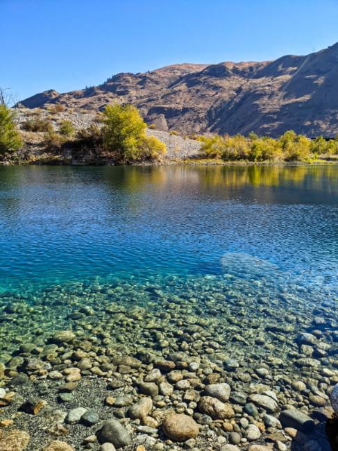 Crystal Clear Water at Powerhouse Park on Columbia River Lake Chelan Washington 1