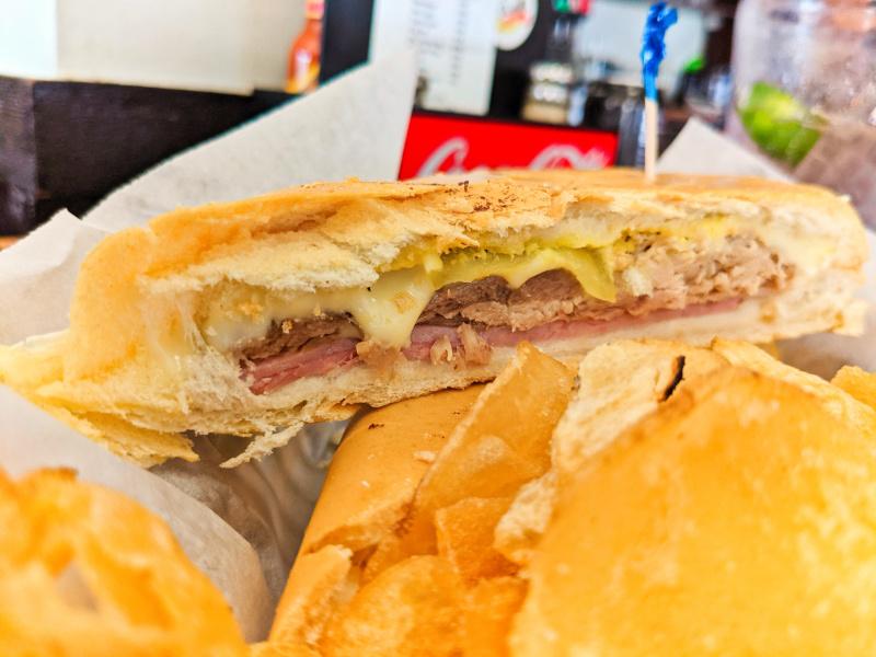 Cuban Sandwich at Habanos Cuban Restaurant Islamorada Florida Keys Road Trip 3