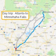 Day trip_ Atlanta to Amicalola Falls map (1)