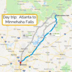 Day trip_ Atlanta to Amicalola Falls map (1)