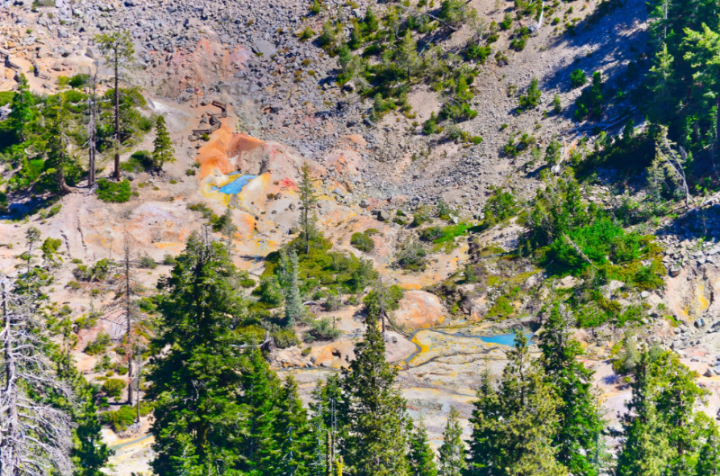 Devils Kitchen Geothermal Area Lassen Volcanic National Park California 1