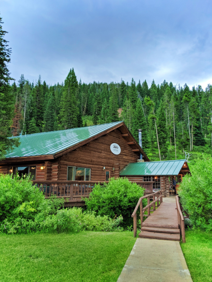 Dining Lodge at 320 Guest Ranch Big Sky Montana 1