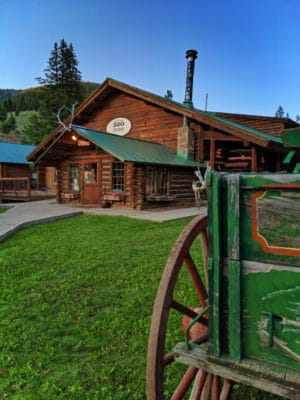 Dining Lodge at 320 Guest Ranch Big Sky Montana 3