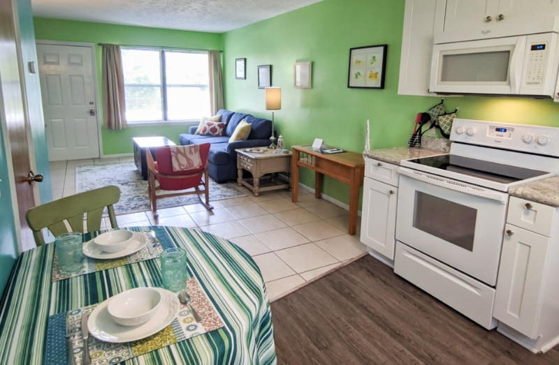 Dining Room at Buccaneer Bungalow Butler Beach Saint Augustine Florida Vacation Rental 1b
