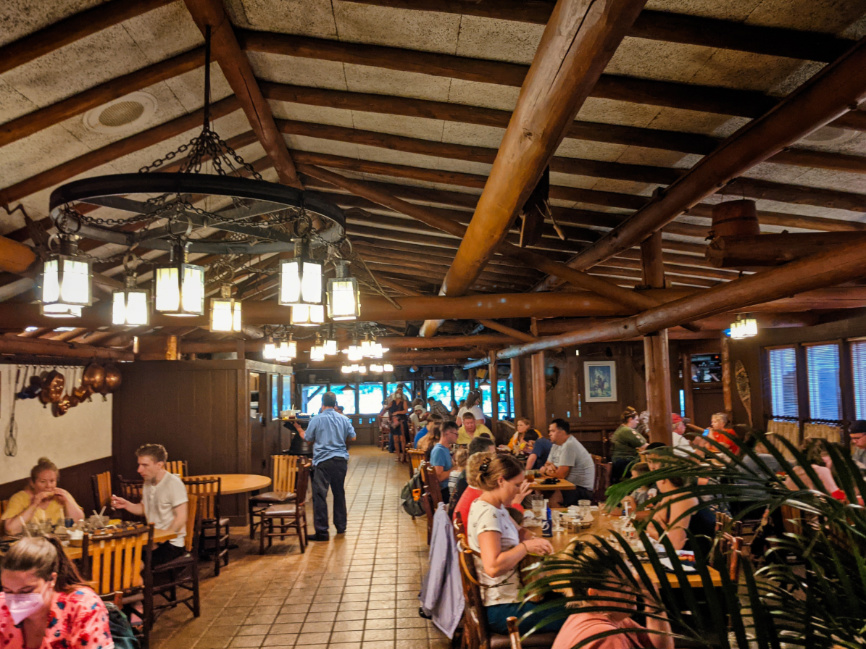 Dining Room of Crocketts Tavern at the Settlement at Fort Wilderness Resort and Campground Disney World 1