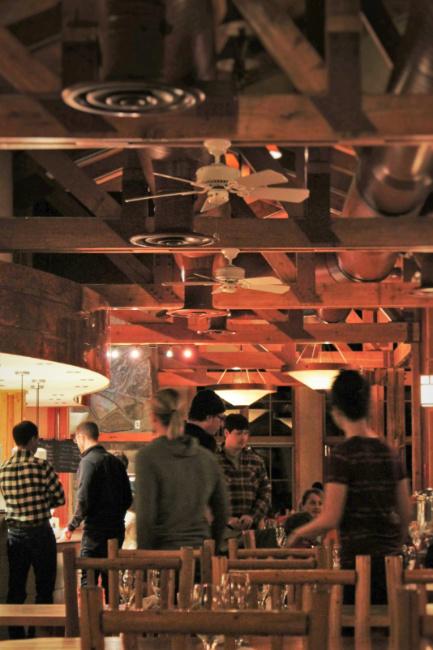 Dinner at Kingfisher Dinning Room at Sleeping Lady Resort Leavenworth WA 1b