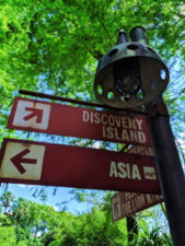 Directional signs at Disneys Animal Kingdom Disney World Orlando Florida 1