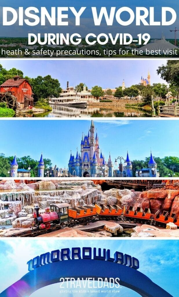 All the details of visiting Disney World during COVID-19 including extra health and safety precautions, modified experiences and how to use the reservation systems. Magic Kingdom details and resort tips.