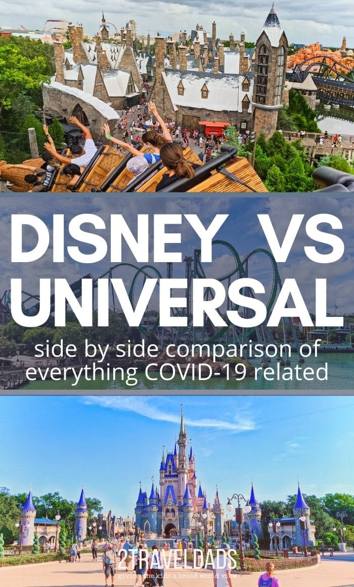 Since Orlando theme parks are open, is Disney World or Universal handling COVID-19 pandemic precautions better? Side by side comparison of health and safety measures between Universal Orlando and Disney World.