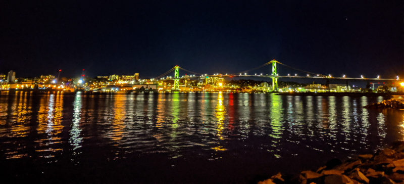 Downtown Halifax at Night from Dartmouth Waterfront Halifax Nova Scotia 1