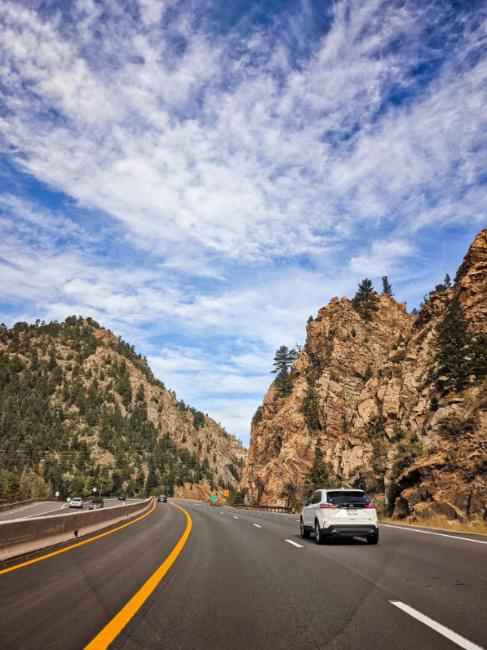 Driving Interstate Highway 70 from Denver to Breckenridge Colorado 3