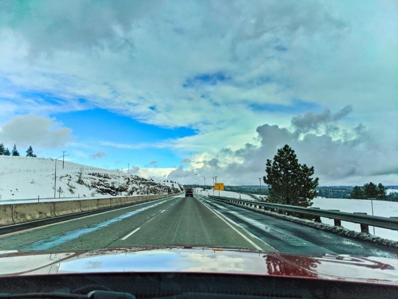 Driving on I84 Baker City Oregon 1
