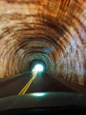 Driving through Zion Mt Carmel Tunnel Zion National Park Utah 2