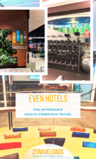 Even Hotels are set up for healthy choices when you travel. With fitness equipment in hotel rooms, great on-property gyms and even healthy food choices, they're perfect for health conscious travelers. #travel #hotel #fitness