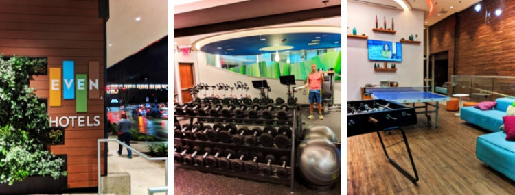 As frequent travelers we're always on the lookout for the best hotel for fitness, both with and without kids. EVEN Hotels by IHG is everything a health conscious traveler is looking for.