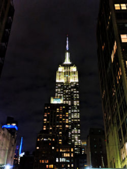 Empire State Building at Night New York City 1