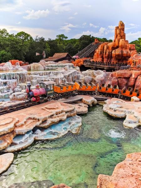 Empty Sanitized Train Cars on Thunder Mountain Magic Kingdom Disney World 2020 1