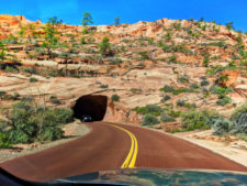 Entrance to Zion Mt Carmel Tunnel Zion National Park Utah 2