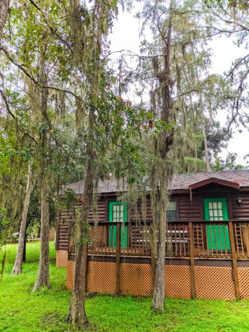 Exterior of Cabin at Fort Wilderness Resort and Campground Disney World Orlando 1