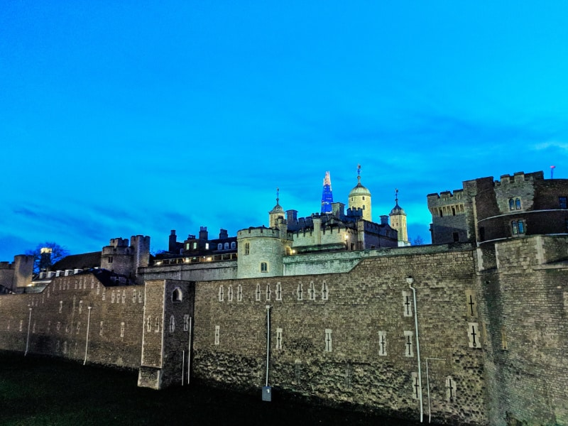 Exterior of Tower of London with The Shard East London 1