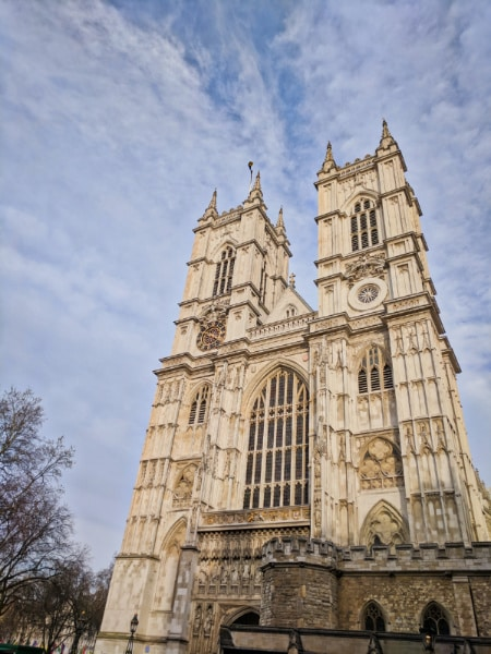 Exterior of Westminster Abbey Parliament Square London 1