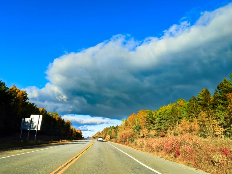 Fall Colours on highway in Nova Scotia 1