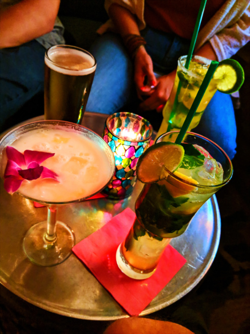 Fancy drinks at the Tropicale downtown Palm Springs California 1