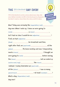 Fill in the Blanks - Ultimate Travel Journal for Kids