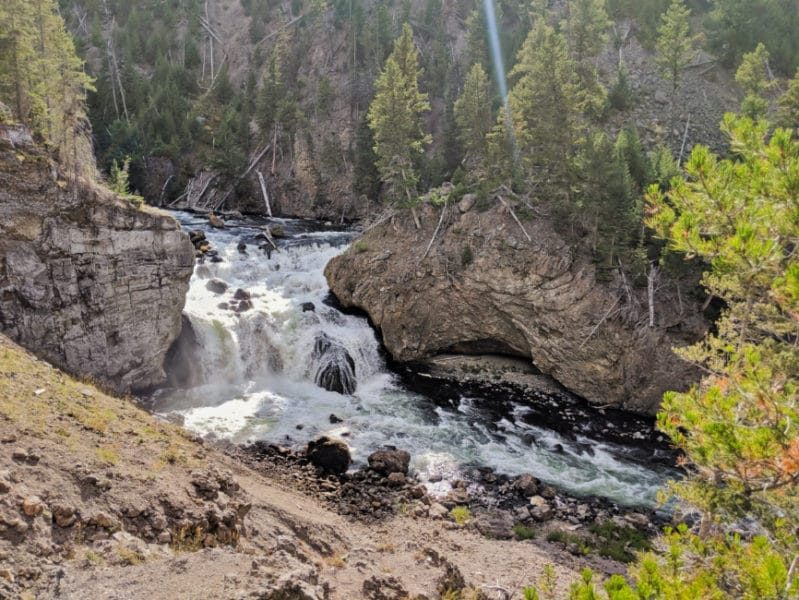 Firehole River in Firehole Canyon Yellowstone NP Wyoming 2